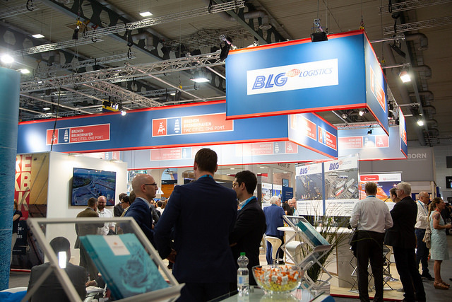 Bremen's port industry had a joint presence at the 2018 Breakbulk Europe fair.