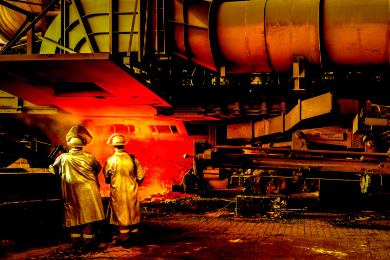 An impressive view of a blast furnace at ArcelorMittal Bremen