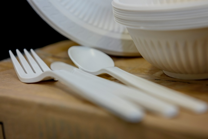 Disposable plates and cutlery made of corn starch: a Bremen