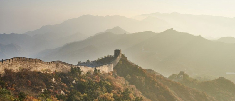 The Great Wall of China used to mark the country's borders – and the start of the Silk Road outside the empire