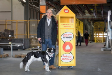 JO-BA's managing director, Kai-Uwe Jobst, and his dog Luke