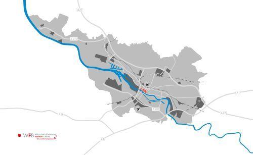 Bundesland Bremen Karte.Innenstadt Bremen In Gewerbeflächen Bremen Wfb