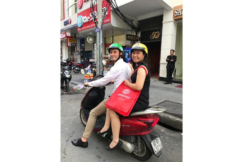 Kolja Umland and Huong Thi Hoang out and about in Vietnam