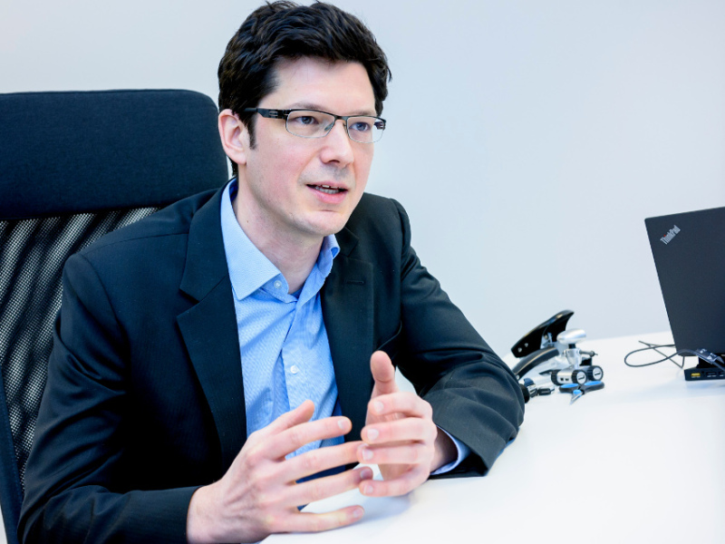 Jakob Schwendner is managing director of Kraken Robotik