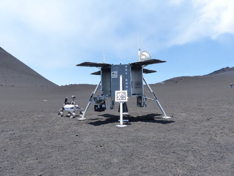 One of the landers tested on Mount Etna