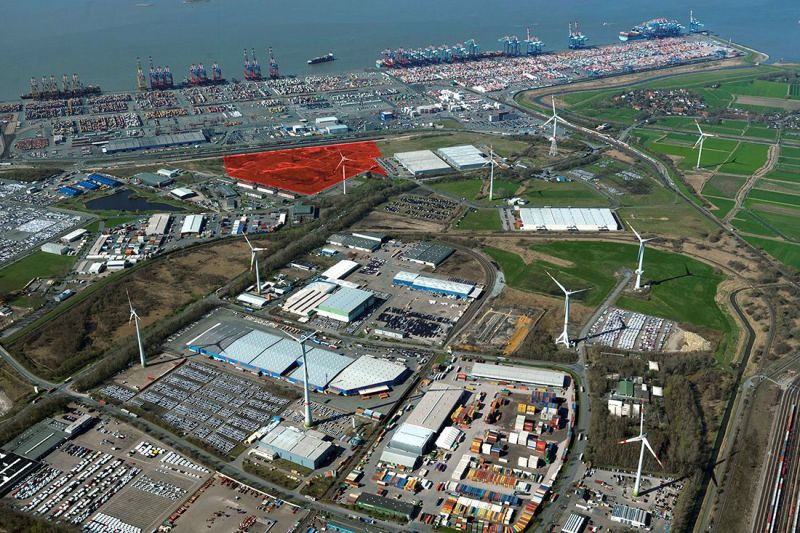 The newly acquired area in Bremerhaven lies in direct proximity to the container port