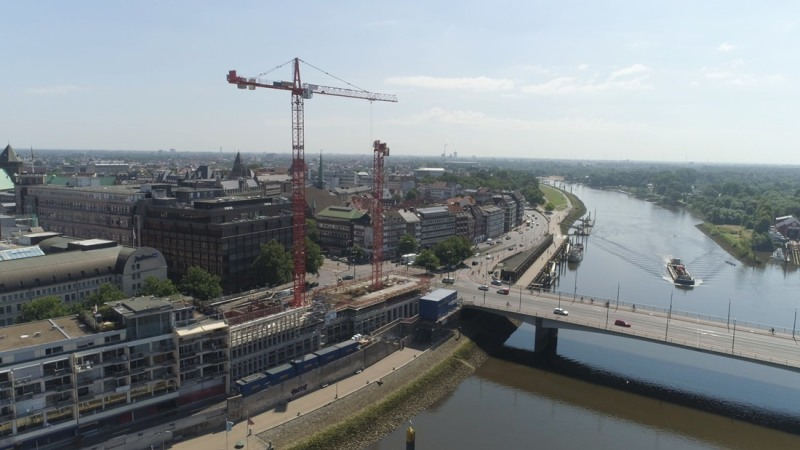 Construction site of Kühne + Nagel in the summer of 2018