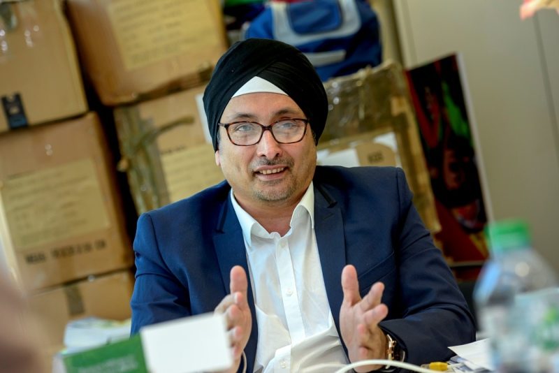 CEO Paramjit Kohli in the interview