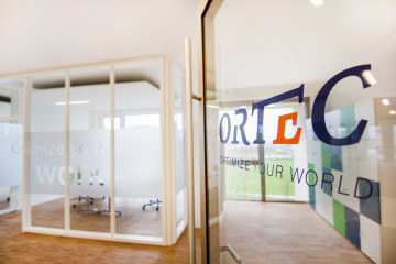 Modern open-plan offices are an important aspect of ORTEC's site in Bremen