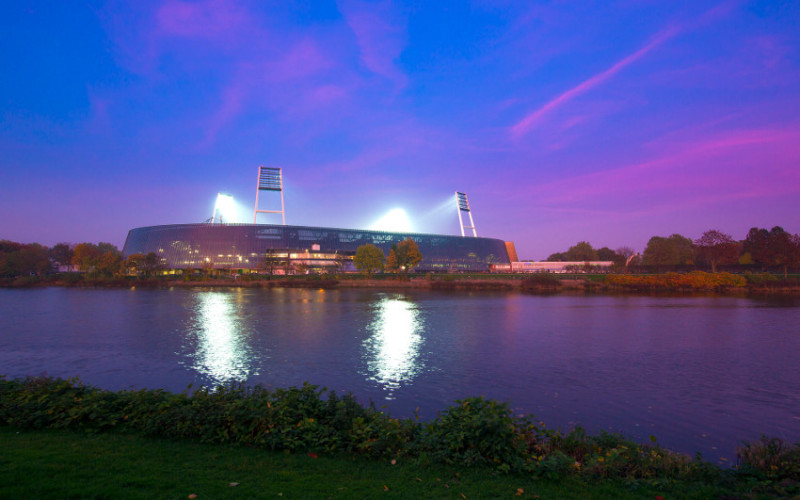 Weser Stadium at the Weser river