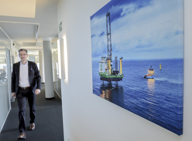 The vessel Innovation can be seen all over GeoSea's offices at the  technology park in Bremen.