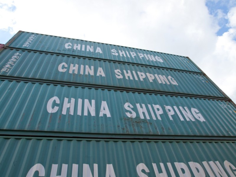 Containers from China at Bremen's Cargo Distribution Center (GVZ)