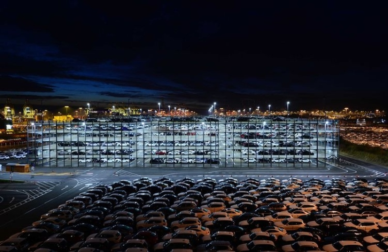 The AutoTerminal has 95,000 parking spaces
