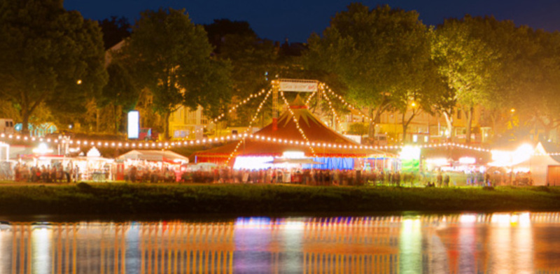 Breminale music festival on the banks of the river Weser