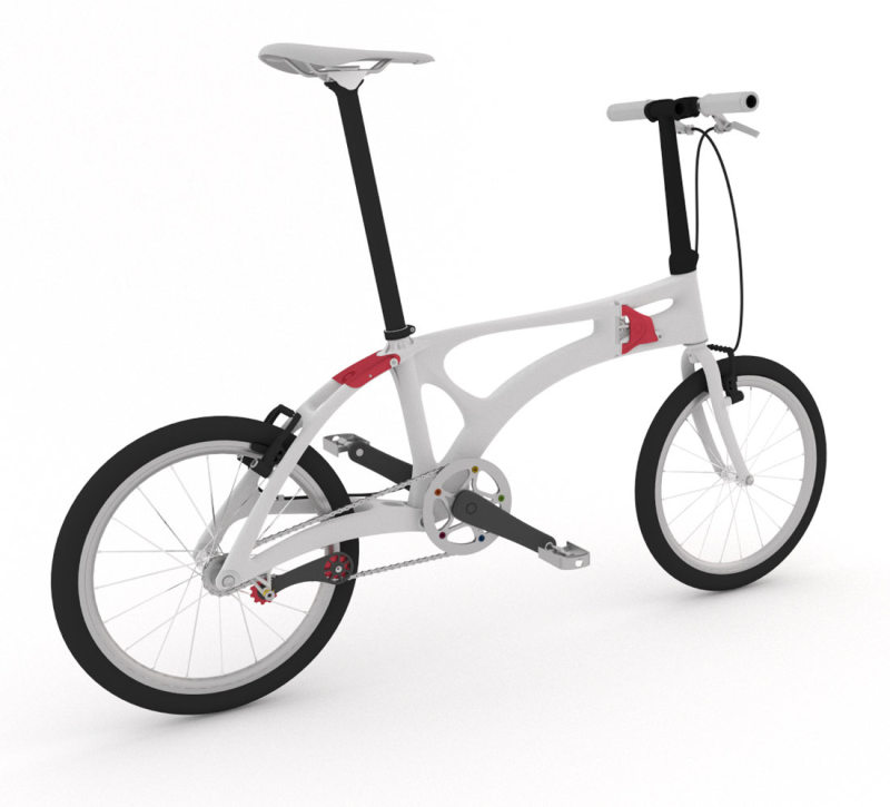 The folding bicycle was created using bionic lightweight construction principles