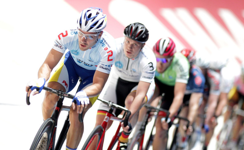 Cyclists on the cycle race