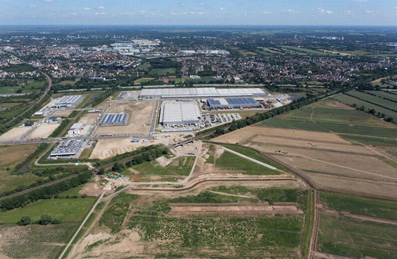 An aerial view of Bremen Hansalinie Industrial Estate